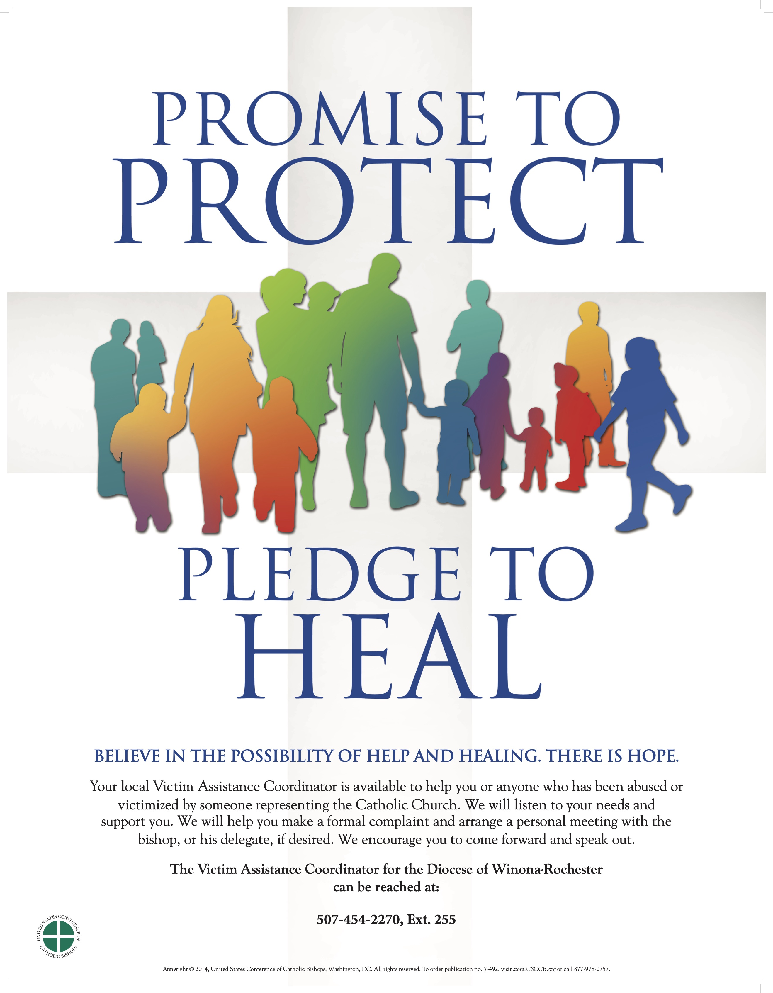 Diocese of Winona-Rochester Pledge to Heal Poster